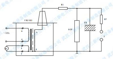 工频耐压试验的接线图